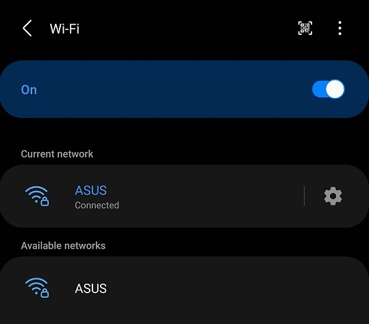 Android Wi-Fi Connection Settings